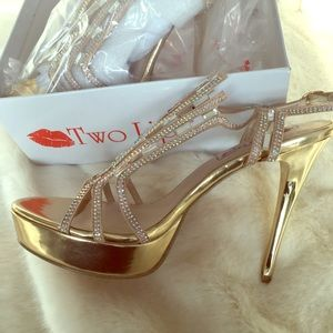 Brand new two lips glam shoes